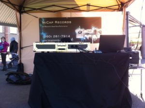 HiCap Records Outdoor DJ Booth