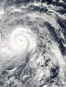 Typhoon Haiyan over the Pacific.  Credit: NASA Goddard MODIS Rapid Response Team